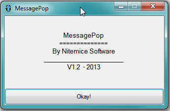 MessagePop's Default Screen